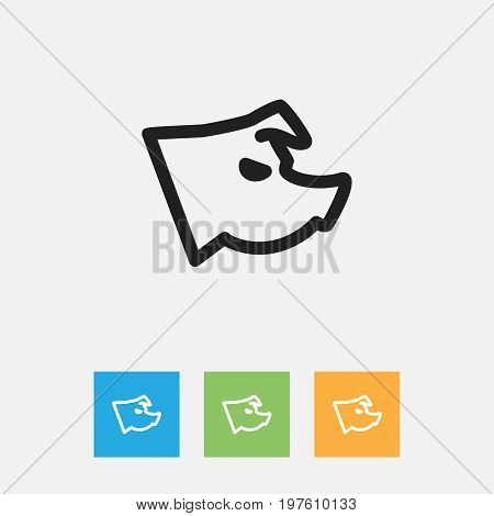 Vector Illustration Of Animal Symbol On Sow Outline