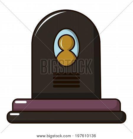Headstone icon. Cartoon illustration of headstone vector icon for web design