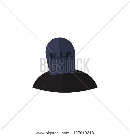 Tomb Vector Element Can Be Used For Grave, Tomb, Rip Design Concept.  Isolated Grave Flat Icon.