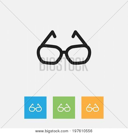 Vector Illustration Of Trade Symbol On Spectacles Outline