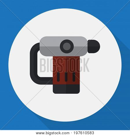 Vector Illustration Of Electric Symbol On Nailer Flat Icon
