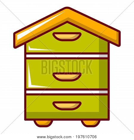 Hive for bees icon. Cartoon illustration of hive for bees vector icon for web design