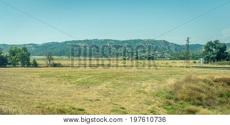 Mountains And Grass On The Spanish Countryside Of Cordoba, Spain,europe