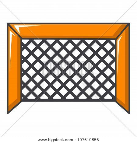 Hockey gate icon. Cartoon illustration of hockey gate vector icon for web design