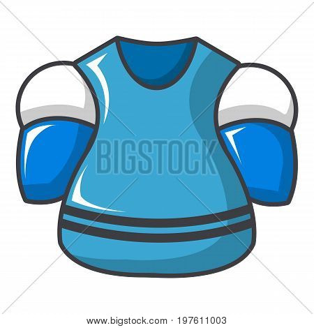 Hockey jersey icon. Cartoon illustration of hockey jersey vector icon for web design