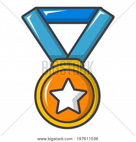 Gold medal icon. Cartoon illustration of gold medal vector icon for web design