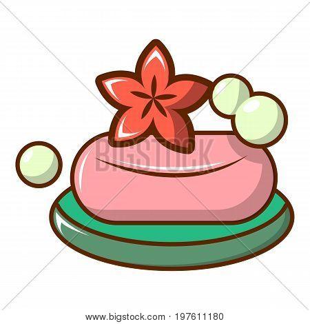 Soap icon. Cartoon illustration of soap vector icon for web design