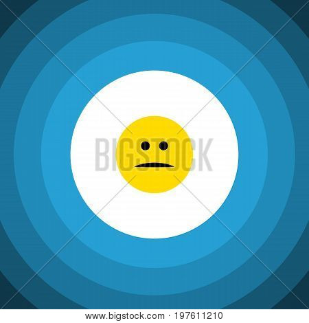 Displeased Vector Element Can Be Used For Displeased, Face, Mood Design Concept.  Isolated Mood Flat Icon.