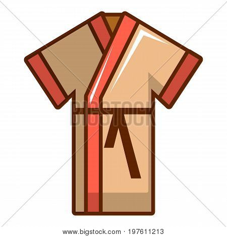 Bathrobe icon. Cartoon illustration of bathrobe vector icon for web design