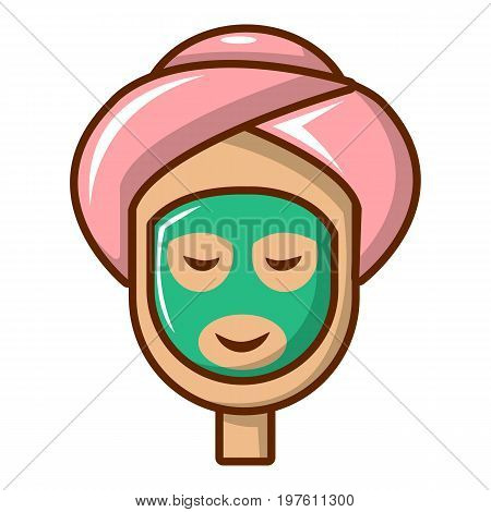 Spa facial clay mask icon. Cartoon illustration of spa facial clay mask vector icon for web design