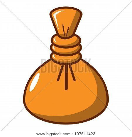 Herbal massage pouch icon. Cartoon illustration of herbal massage pouch vector icon for web design
