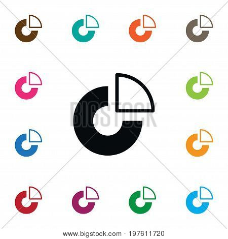 Slice Vector Element Can Be Used For Slice, Pie, Chart Design Concept.  Isolated Statistic Icon.