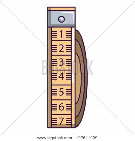 Measuring tape icon. Cartoon illustration of measuring tape vector icon for web design