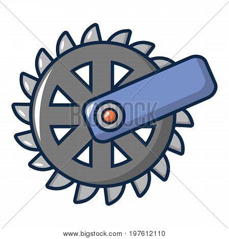 Mining Industry cogwheel icon. Cartoon illustration of mining Industry cogwheel vector icon for web design