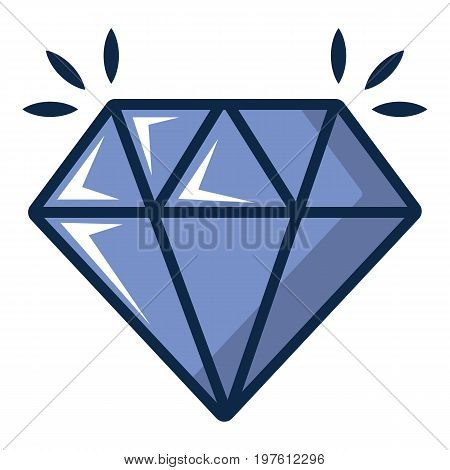 Crystal icon. Cartoon illustration of crystal vector icon for web design