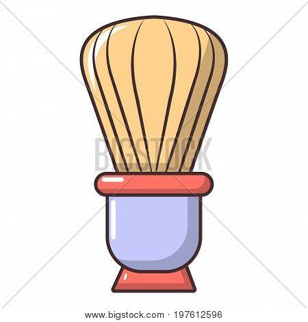 Shaving brush icon. Cartoon illustration of shaving brush vector icon for web design