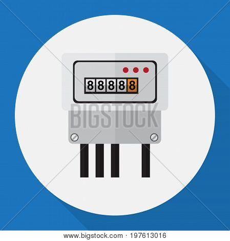 Vector Illustration Of Instruments Symbol On Current Meter Flat Icon