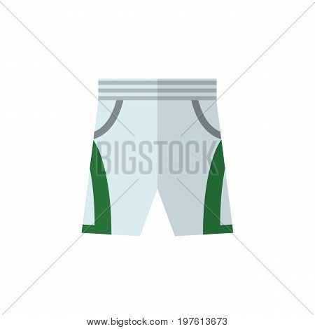 Trunks Cloth Vector Element Can Be Used For Shorts, Trunks, Cloth Design Concept.  Isolated Shorts Flat Icon.