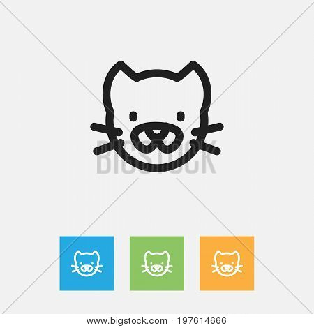 Vector Illustration Of Zoology Symbol On Pussy Outline