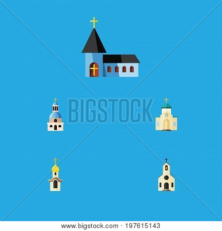Flat Icon Christian Set Of Church, Religious, Christian And Other Vector Objects