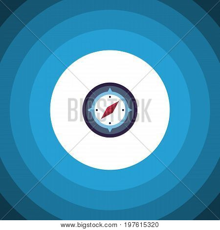 Orientation Vector Element Can Be Used For Orientation, Geography, Compass Design Concept.  Isolated Instrument Flat Icon.