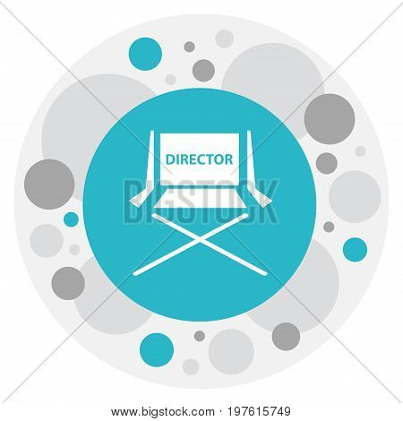 Vector Illustration Of Filming Symbol On Director Chair Icon