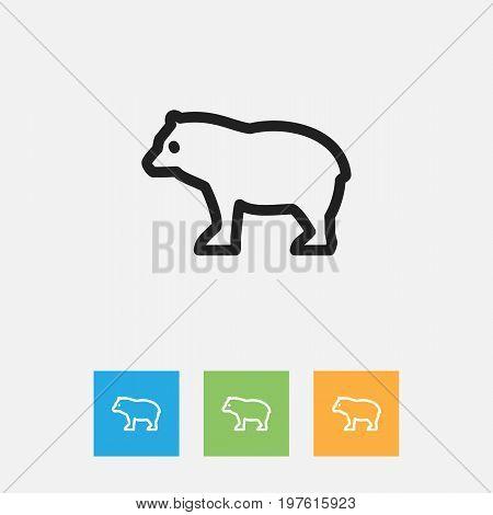 Vector Illustration Of Zoology Symbol On Predator Outline