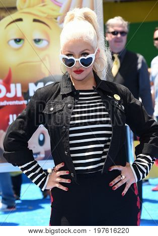 LOS ANGELES - JUL 23:  Christina Aguilera arrives for the