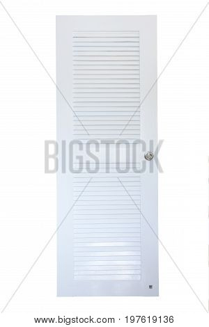 Plastic Pvc Door Closed Isolated On White Background