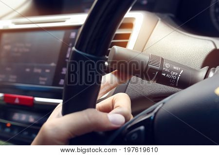 People Driver Switching Arm Stick Windshield Wiper Controller