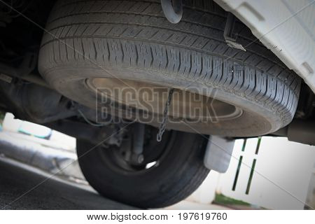Tire Spare Wheel Of Vehicle Car Transportation