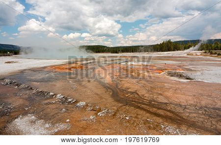 Black Sand Geyser Basin in Yellowstone National Park in Wyoming USA
