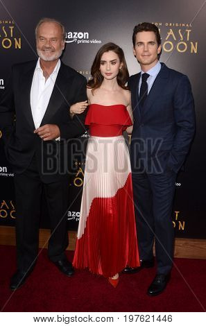 LOS ANGELES - July 27:  Kelsey Grammer, Lily Collins, Matt Bomer at