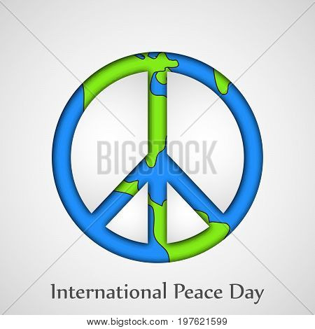 illustration of peace symbol with International Peace Day text on the occasion of International Peace Day