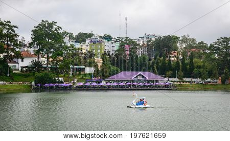 Lake Xuan Huong In Dalat Highlands, Vietnam