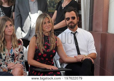 LOS ANGELES - July 26:  Jennifer Aniston, Justin Theroux at the Jason Bateman Hollywood Walk of Fame Star Ceremony at the Walk of Fame on July 26, 2017 in Hollywood, CA