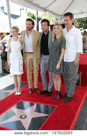 LOS ANGELES - July 26:  Julia Garner, Jason Butler Harner, Jason Bateman, Sofia Hublitz, Chris Mundy at the Jason Bateman Hollywood Star Ceremony at the Walk of Fame on July 26, 2017 in Hollywood, CA