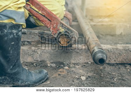 Rig Workers At Site Take Out Drill Core Sample 2