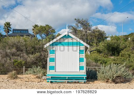 The Bath box at Brighton beach an iconic landmark place of Melbourne, Victoria state of Australia.
