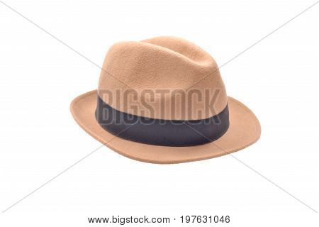 A brown hat isolate on white background