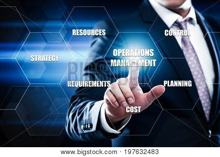 Operations Management Strategy Business Internet Technology Concept.