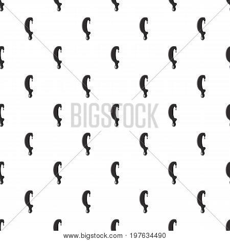Left round bracket isolated on white background. Black liquid oil left round bracket vector illustration