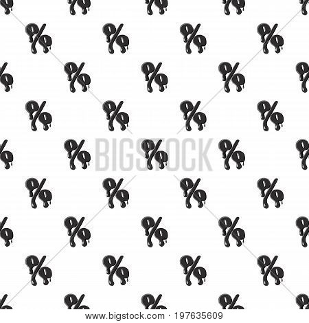 Percent sign isolated on white background. Black liquid oil percent sign vector illustration
