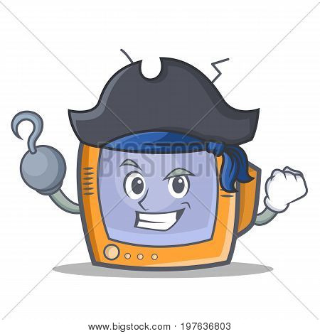 Pirate TV character cartoon object vector illustration