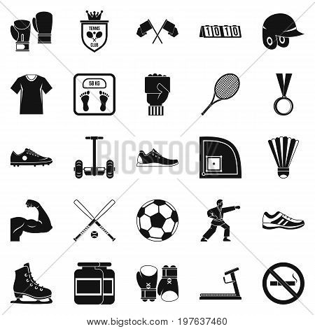 Sportsman icons set. Simple set of 25 sportsman vector icons for web isolated on white background
