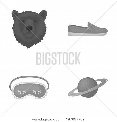 textiles, trade, business and other  icon in monochrome style.satellite, orbit, travel, icons in set collection