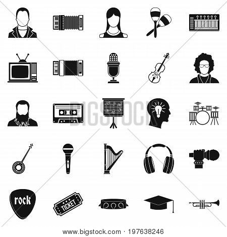 Discourse icons set. Simple set of 25 discourse vector icons for web isolated on white background