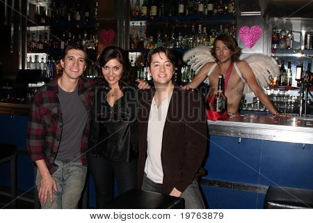 LOS ANGELES - DEC 17:  Josh Heine, Jo Bozarth,  Bradford Anderson  on set during the making of the movie