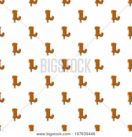 Letter L from caramel pattern seamless repeat in cartoon style vector illustration