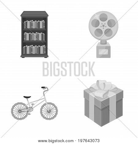 training, sport and other  icon in cartoon style.Film prize, gift icons in set collection.